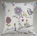 "Birdies Print Cushion Cover 16"" Matches Next Bedding Curtains"